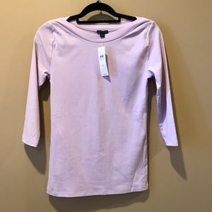 NWT Ann Taylor Lavender Boat Neck Top